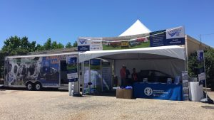 The NAFTC and Odyssey partners and sponsor hosted vehicle displays at Earth Day Texas.