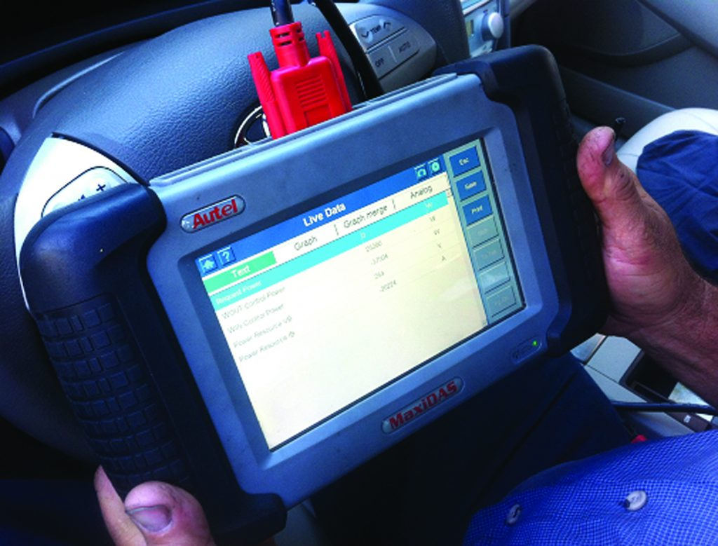 Diagnostic Scan Tool in hands