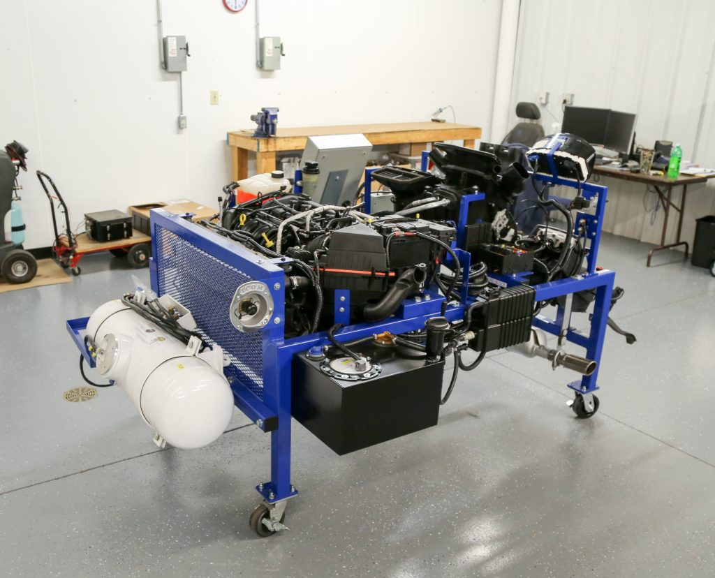 Rear view of the Bi-fuel Engine Performance Trainer
