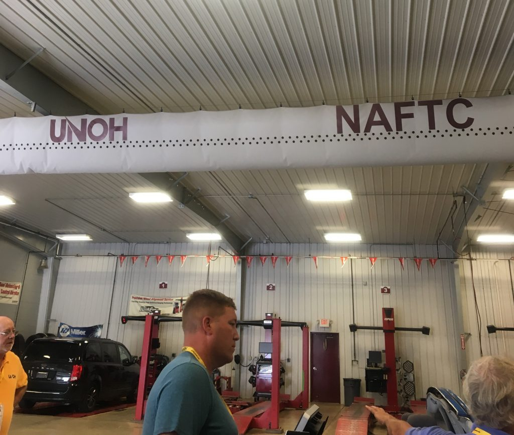 NAFTC Banner Displayed in UNOH Garage